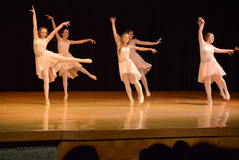 "Emory Lesh, Emory Underwood, Sonjia Hadley, Sydney Wright, Dillyn Morton, Katie Masters, Tabby Rangel and Abigail Smith dance to ""What Huts the Most"" at Melissa's School of Dance and Gymnastics' ""Remember When"" spring recital Wednesday, June 14, 2017."