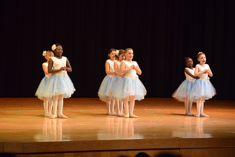 "Tatum Bowen, Christina Mackintosh, Faithe Spicer, Emma Feather, Addison Koester, Chloe Hutt and Fidea Mackintosh dance to ""So Long, Farewell"" at Melissa's School of Dance and Gymnastics' ""Remember When"" spring recital Wednesday, June 14, 2017."