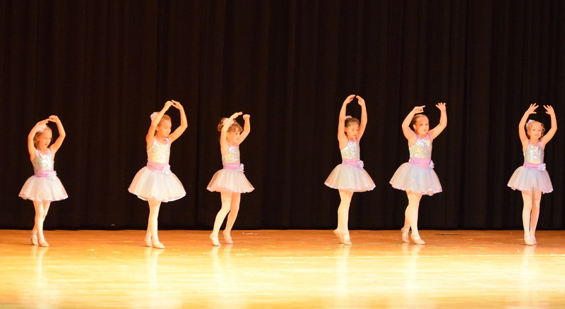 "Noelle Murphy, Elizabeth Waller, Lauren Lorenzo, Hailey Foos, Lindsey Richie and Kiran McCracken dance to ""High Ho"" at Melissa's School of Dance and Gymnastics' ""Remember When"" spring recital Wednesday, June 14, 2017."