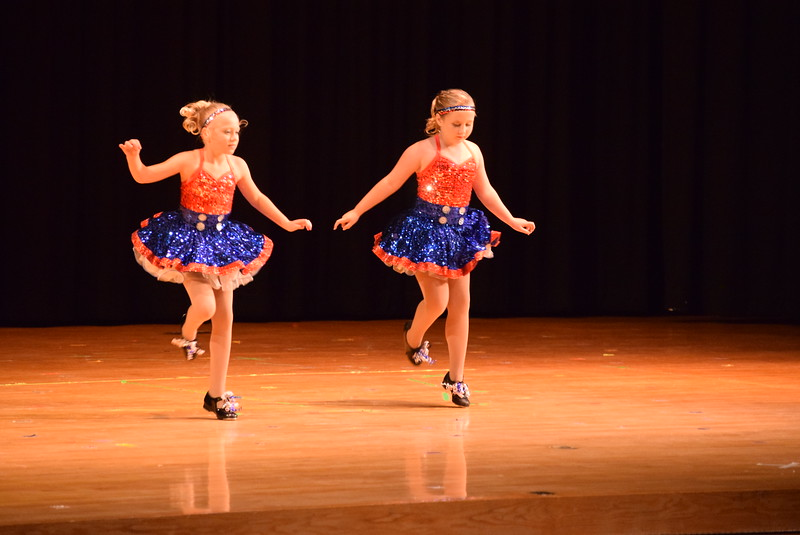 "Kiran McCracken and Lindsey Richie perform to ""Party in the U.S.A."" at Melissa's School of Dance and Gymnastics' ""Remember When"" spring recital Wednesday, June 14, 2017."