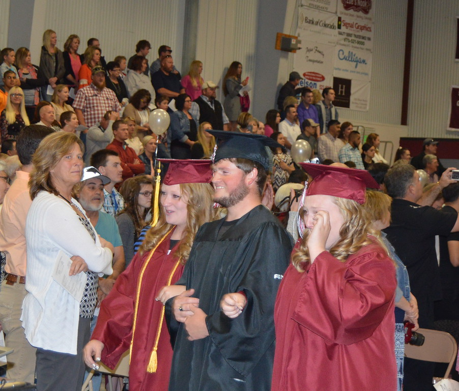 The Class of 2016 processional at the Merino High School commencement exercises Sunday, May 15, 2016.