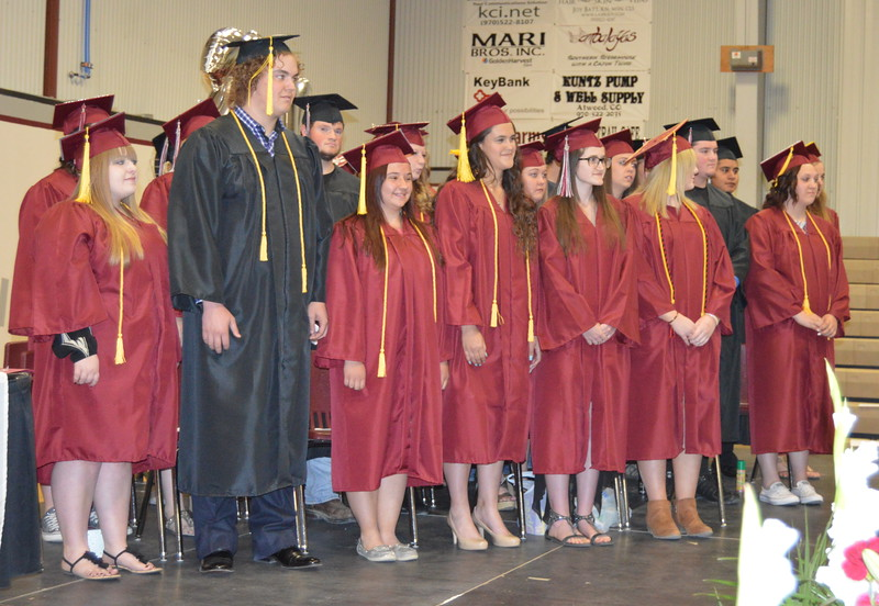 The Class of 2016 at the Merino High School commencement exercises Sunday, May 15, 2016.