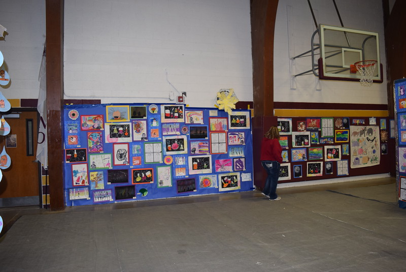 A variety of art projects were on display at Merino High School and Elementary's Walking Dinner Thursday, April 28, 2016.