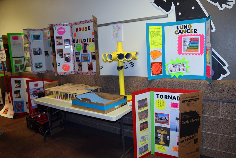 A variety of science projects were on display as part of Merino High School and Elementary's Walking Dinner Thursday, April 28, 2016.