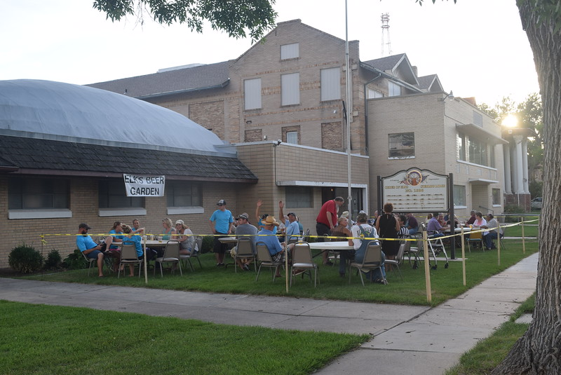 The beer garden at Sterling Elks Lodge drew a crowed Friday, July 22, 2016, during the July Jamz concert.