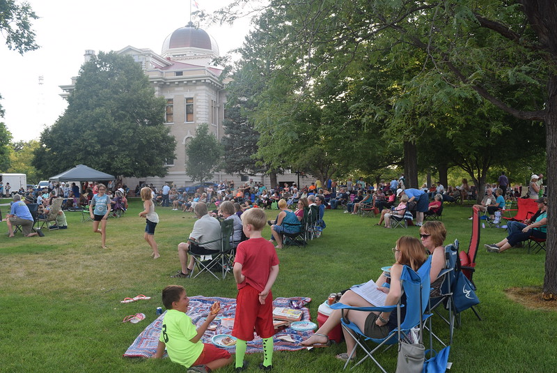 The Logan County Courthouse Square was packed with people during the Mojomama July Jamz concert Friday, July 22, 2016.