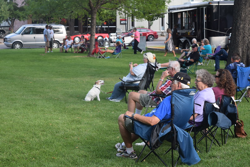 Dogs were part of the crowd at the Transwest Concerts on the Green...July Jamz concert Friday, July 22, 2016.