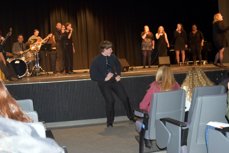 "Northeastern Junior College students were dancing in the aisles during the Contemporary Choir's performance of ""Me Too,"" at NJC's Winter Ensemble Concert, Saturday, Dec. 10, 2016."