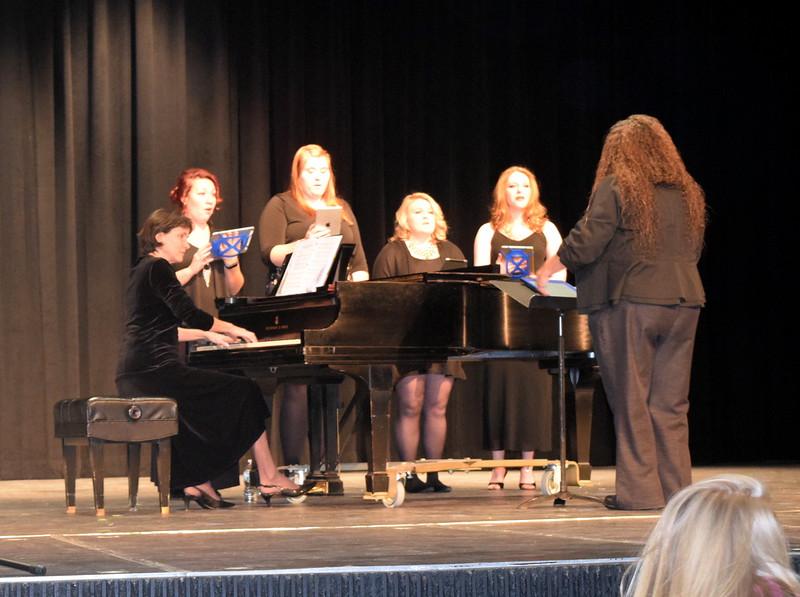 "Members of the Northeastern Junior College Concert Choir perform ""Antiphonal Deck the Halls,"" under the direction of Celeste Delgado-Pelton, during NJC's Winter Ensemble Concert, Saturday, Dec. 10, 2016."