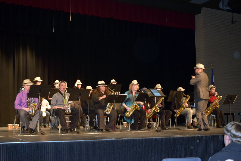 "The NJC Jazz Band performs ""Sing, Sing, Sing,"" under the direction of Lee Lippstrew, during NJC's Winter Ensemble Concert, Saturday, Dec. 10, 2016."