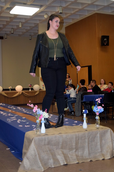 Jordan Will models pants, a shirt and jacket from Bealls at the NJC Cosmetology Fashion Show Fundraiser Saturday, Feb. 25,  2017.