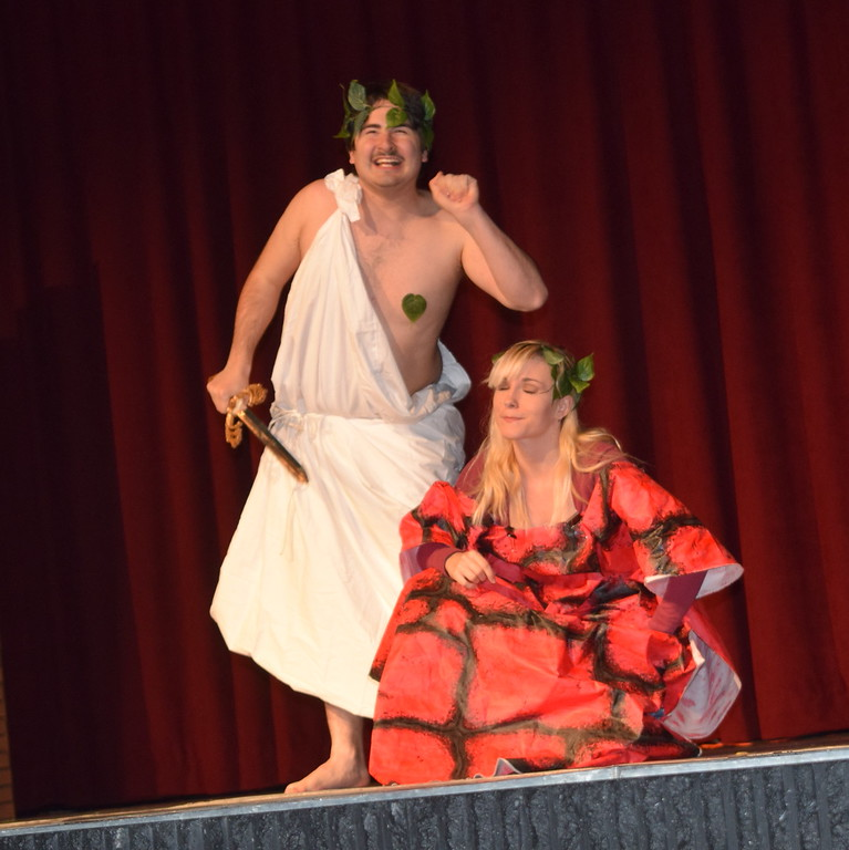 "NJC theatre students perform a scene from ""A Midsummer Night's Dream"" during the E.S. French grand re-opening celebration Saturday, April 2, 2016."