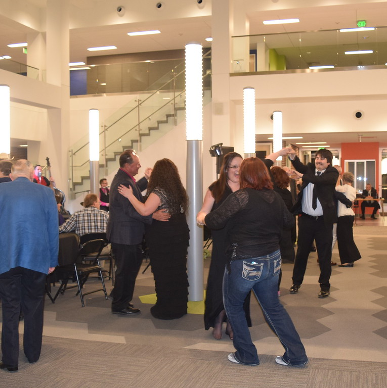 Guests ended the night dancing to the tunes of the Juke Joint Cruisers during the E.S. French grand re-opening celebration Saturday, April 2, 2016.