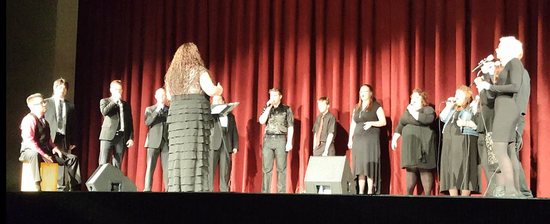 The NJC Contemporary Choir gives the first ever performance in the newly renovated Dorothy Corsberg Theatre during the E.S. French grand re-opening celebration Saturday, April 2, 2016.