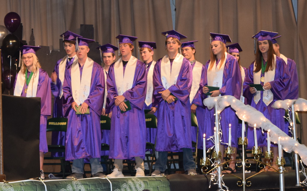 . The Peetz High School class of 2018 is presented at the conclusion of the commencement ceremony Sunday, May 13, 2018.