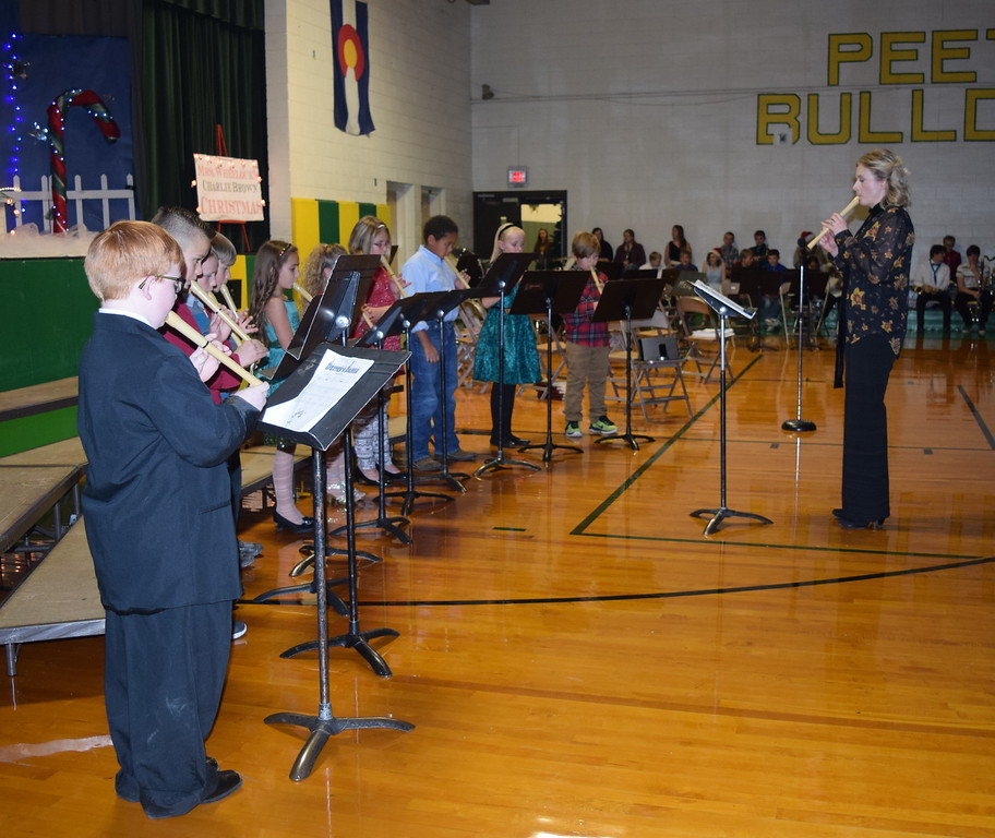 "Peetz School third graders perform ""Dexter's Dance"" on their recorders, under the direction of Jamie Wheelock, during the school's K-12 Winter Concert, Tuesday, Dec. 6, 2016."