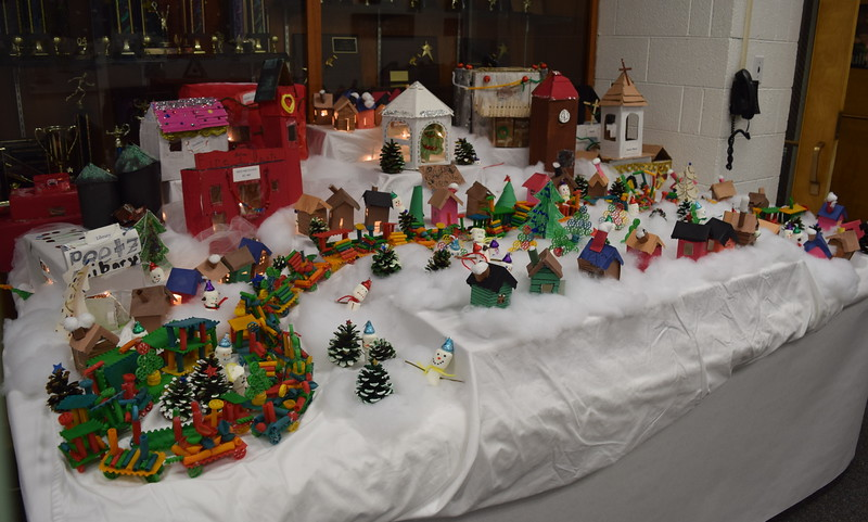 A display depicting the town of Peetz was part of the decorations at Peetz School's K-12 Winter Concert, Tuesday, Dec. 6, 2016.