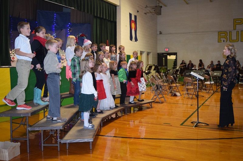 "Peetz School kindergarten through second graders perform ""We Will Jingle,"" under the direction of Jamie Wheelock, at the school's K-12 Winder Concert, Tuesday, Dec. 6, 2016."
