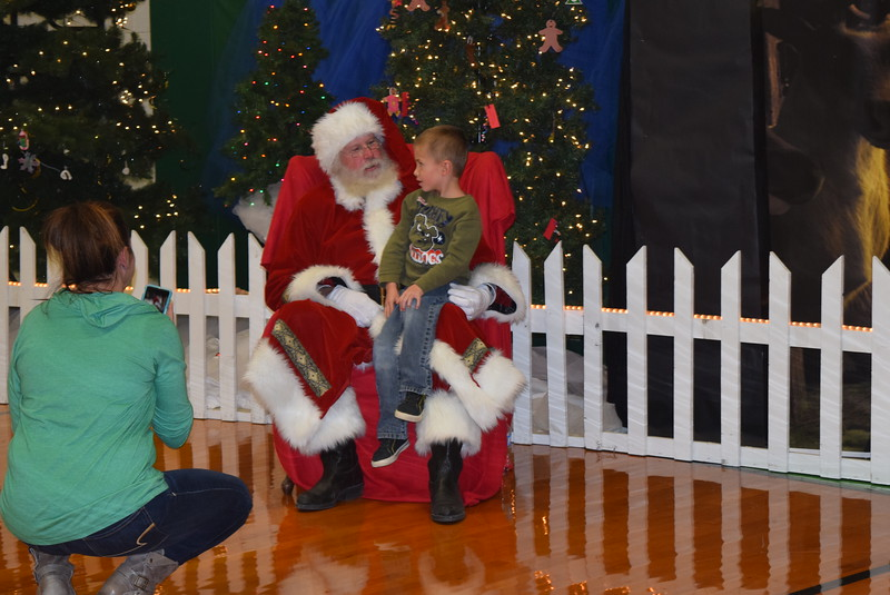 Children got to share their Christmas list with Santa following Peetz School's K-12 Winter Concert, Tuesday, Dec. 6, 2016.