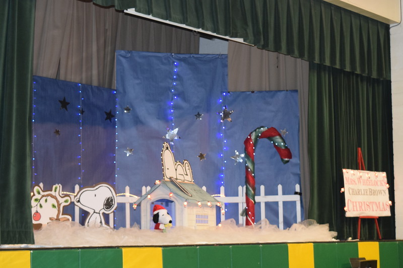 Mrs. Wheelock's Charlie Brown Christmas served as the backdrop for Peetz School's K-12 Winter Concert Tuesday, Dec. 6, 2016.