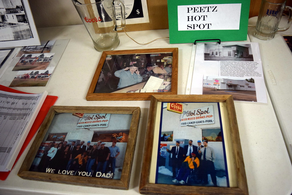 """. Photographs on display at Peetz Sake Days \""""Still on the Hill\"""" Centennial Celebration Saturday, Sept. 30, 2017, show some of the fun times that have been had at Peetz Hot Spot over the years."""