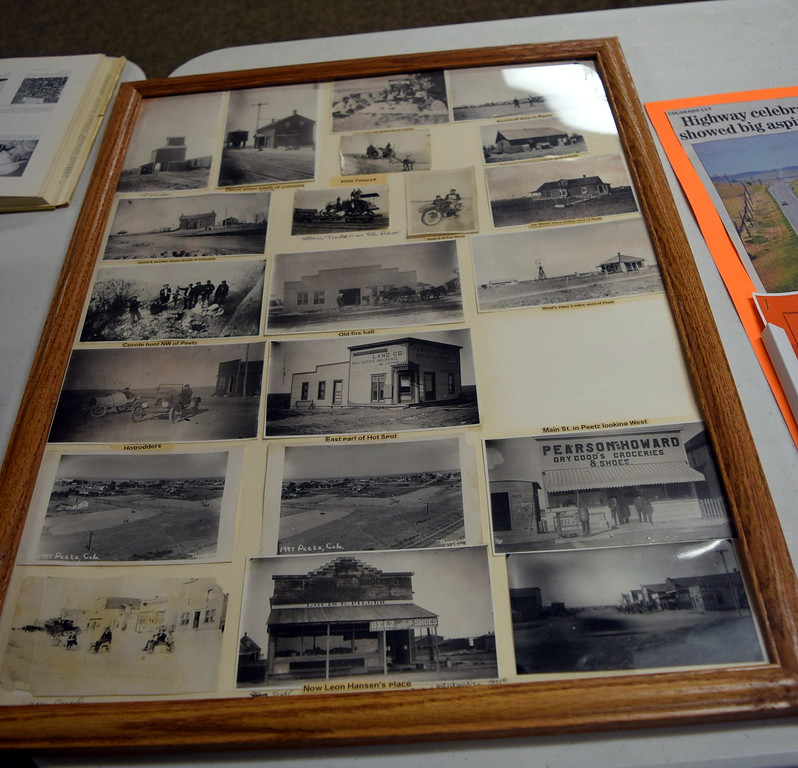 """. Old photographs of various locations in Peetz were display at Peetz Sake Days \""""Still on the Hill\"""" Centennial Celebration Saturday, Sept. 30, 2017."""
