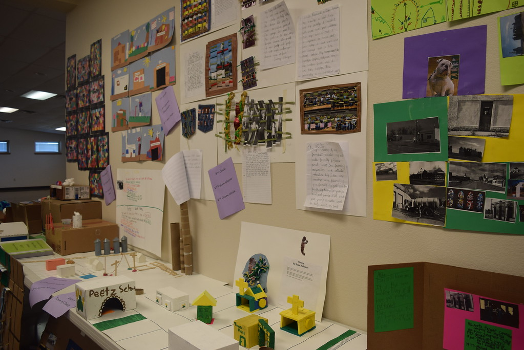 """. A variety of student projects were on display at Peetz Sake Days \""""Still on the Hill\"""" Centennial Celebration Saturday, Sept. 30, 2017."""