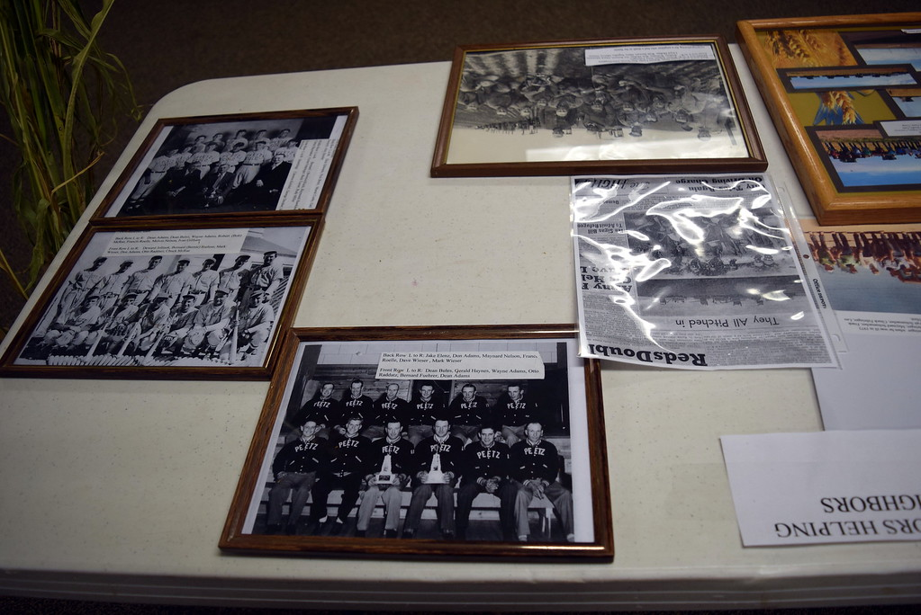 """. Peetz High School photographs from years gone by were on display at Peetz Sake Days \""""Still on the Hill\"""" Centennial Celebration Saturday, Sept. 30, 2017."""
