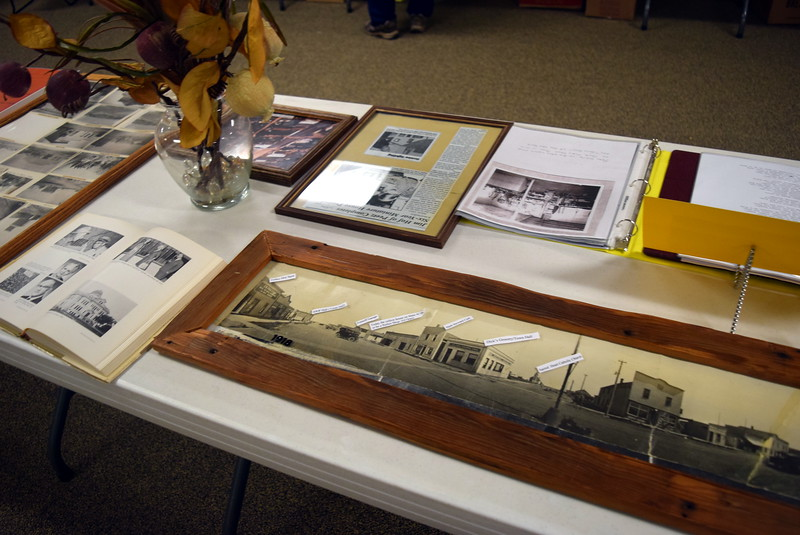 """Old photographs of the Town of Peetz were on display at Peetz Sake Days """"Still on the Hill"""" Centennial Celebration Saturday, Sept. 30, 2017."""