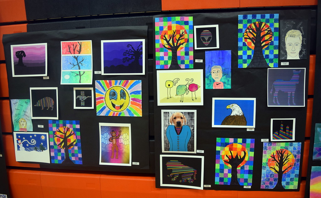 . Sterling Middle School art at the RE-1 Valley District Art Expo Saturday, April 6, 2019.