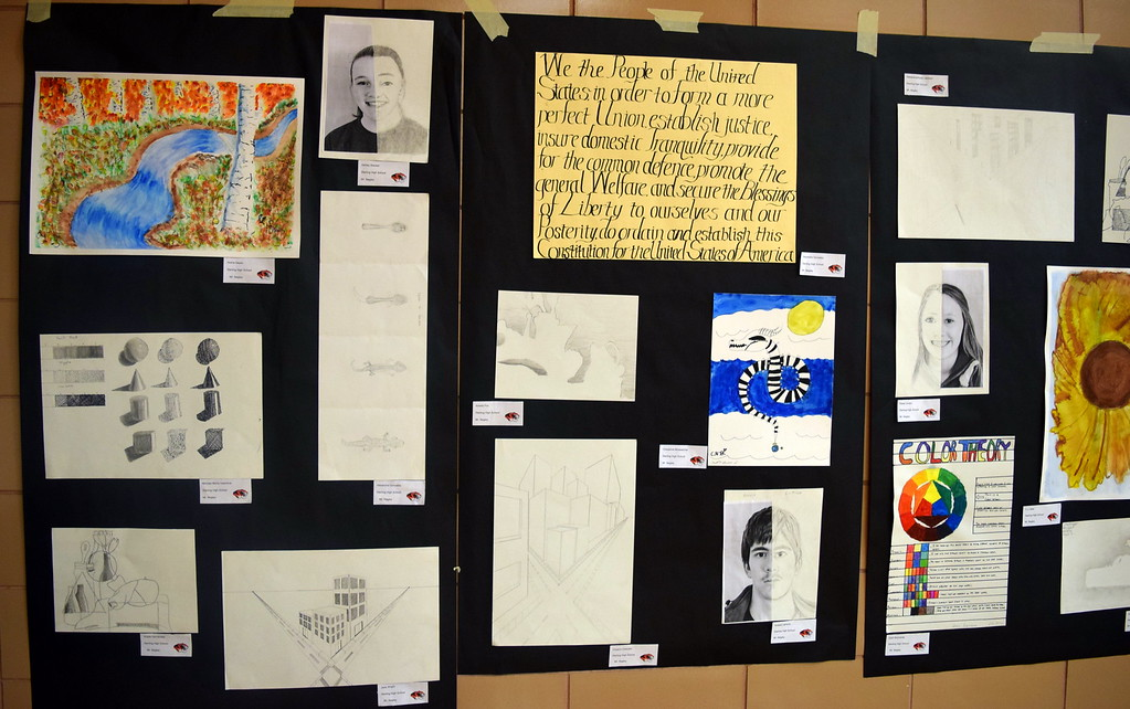 . Sterling High School art at the RE-1 Valley District Art Expo Saturday, April 6, 2019.