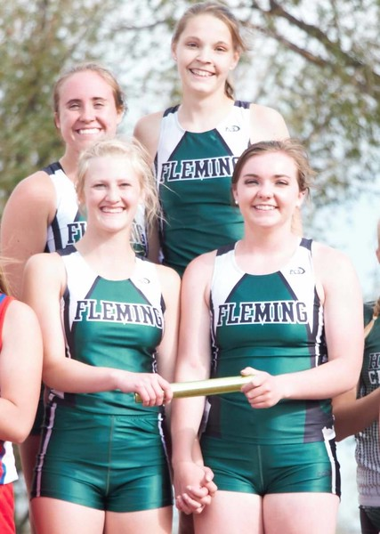 The Fleming 4x400 relay team of Bailey Chintala, Shaylee Johnson, Jenna Lengfelder, and Morgan Cockroft were crowned state champions.