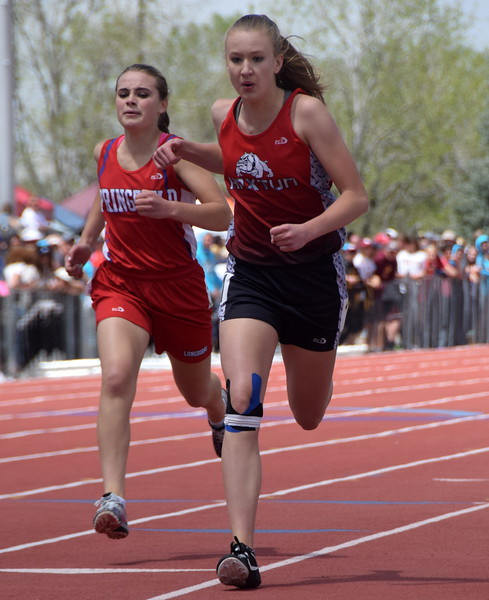 Haxtun's Dawson Knode runs the 400 meter.