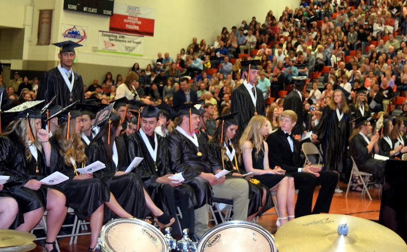 Students are recognized for academic success at Sterling High School's commencement exercises Saturday, May 27, 2017.