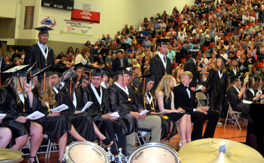 . Students are recognized for academic success at Sterling High School\'s commencement exercises Saturday, May 27, 2017.