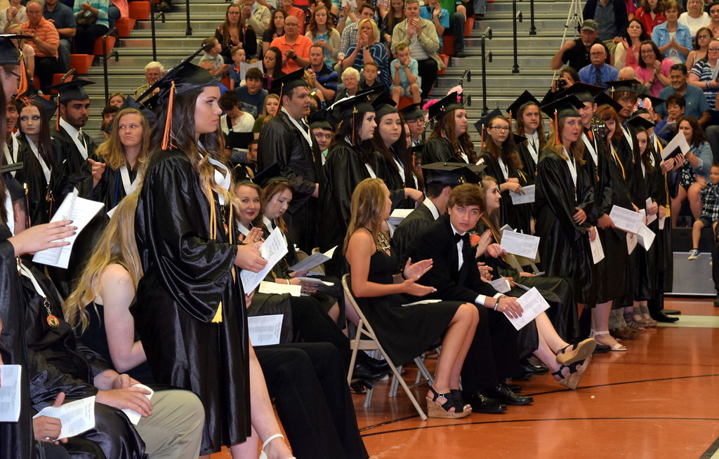 . Scholarship recipients are recognized at Sterling High School\'s commencement exercises Saturday, May 27, 2017.