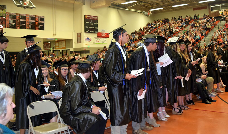 Scholarship recipients are recognized at Sterling High School's commencement exercises Saturday, May 27, 2017.