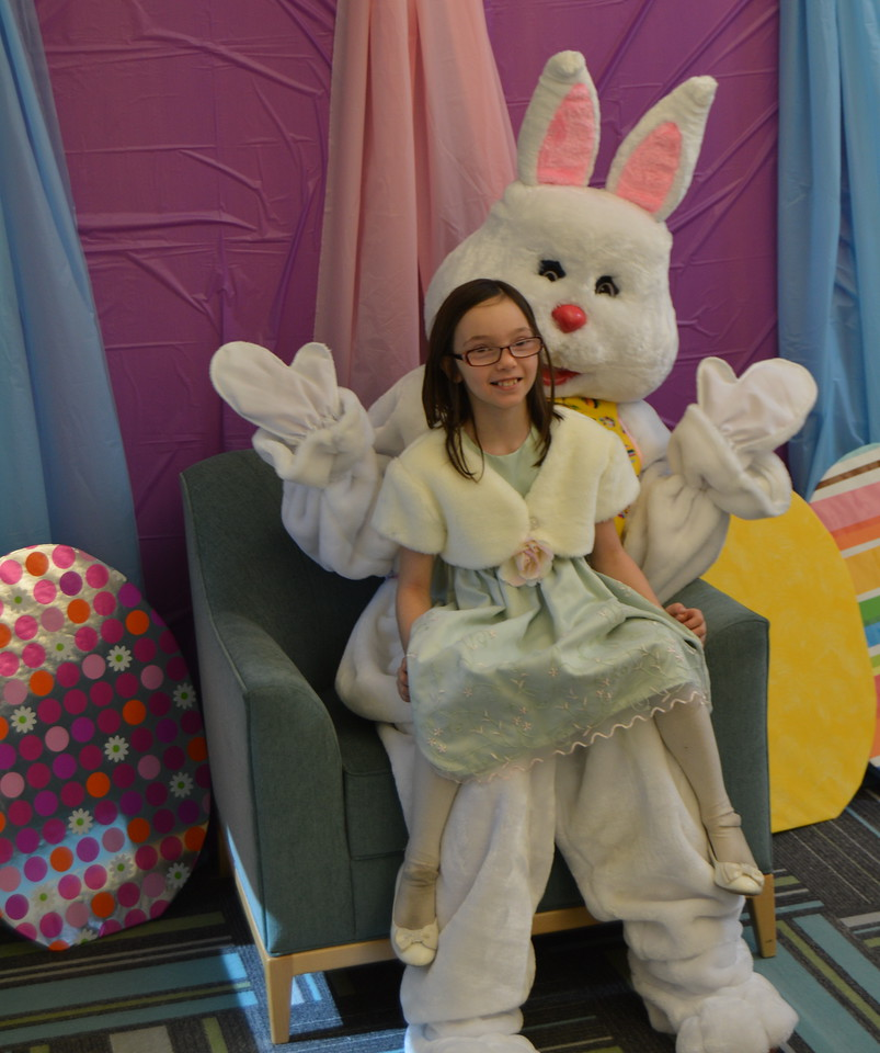 A visit with the Easter Bunny was a highlight of the Sterling Public Library's Bunny Hop Saturday, March 19, 2016.