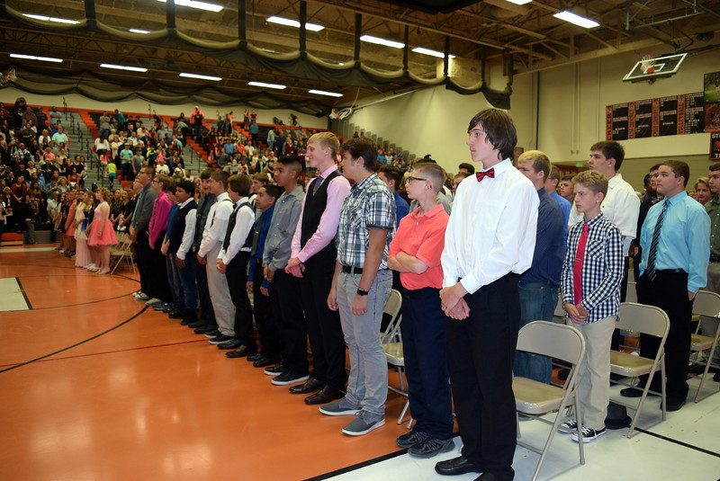 Eighth graders wait for the ceremony to start at Sterling Middle School's Continuation Night Tusday, May 23, 2017.