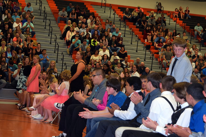 Students are recognized for academic excellence during Sterling Middle School's Continuation Night Tuesday, May 23, 2017.