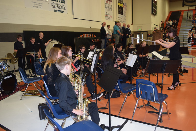 "The Sterling Middle School seventh grade band performs ""Then Come the Heroes,"" under the direction of Risa Lamorie, during the school's Continuation Night Tuesday, May 23, 2017."
