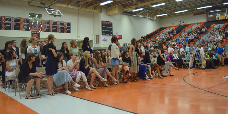 Students with a grade point average of 3.33 or better for the year stand to be recognized at Sterling Middle School's Continuation Night Tuesday, May 24, 2016.