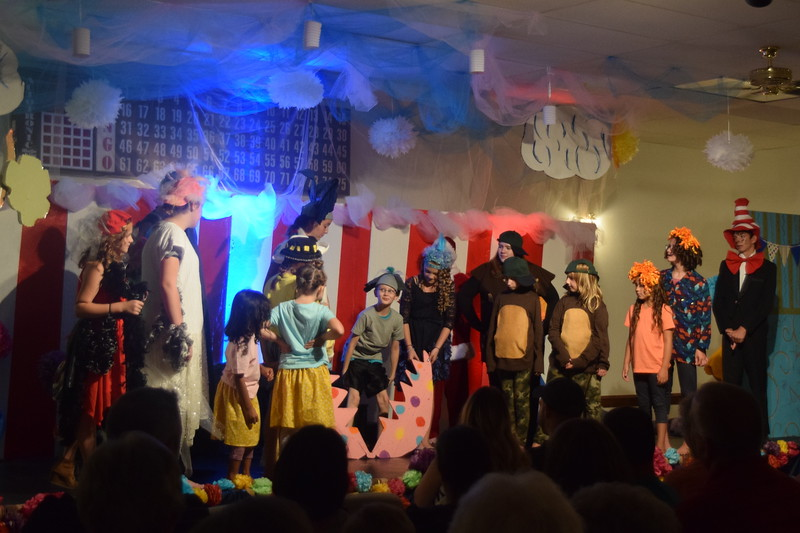 """A special surprise hatches out of the egg Horton the Elephant has been guarding during the Sterling Miracle Players Kids Camp production of """"Seussical Jr."""" Saturday, July 22, 2017."""