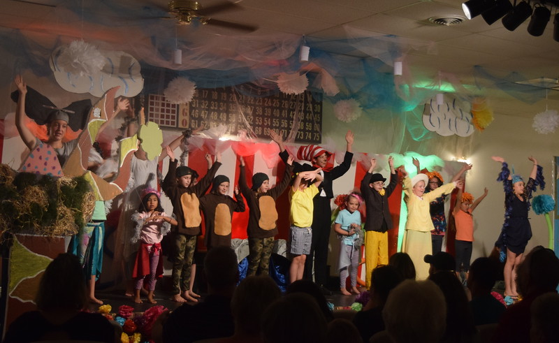 "The cast of Sterling Miracle Players Kids Camp's produciton of ""Seussical Jr."" perform ""Oh, The Thinks You Can Think!"" during the show Saturday, July 22, 2017."