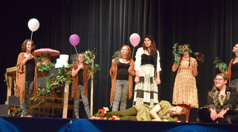 "Sterling Miracle Players rehearse a scene from their upcoming production of ""Peter Pan."""
