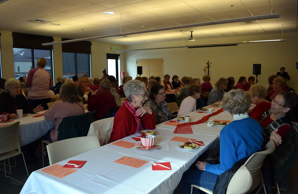 . A packed house filled Sterling Public Library Friday, Feb. 8, 2019, for the annual Valentine\'s Day Tea.