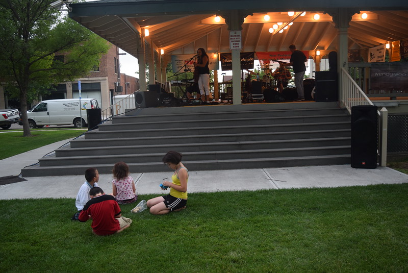"Children enjoy the music of the Wendy Woo Band at Transwest Concerts on the Green...July Jamz"" Friday, July 8, 2016."