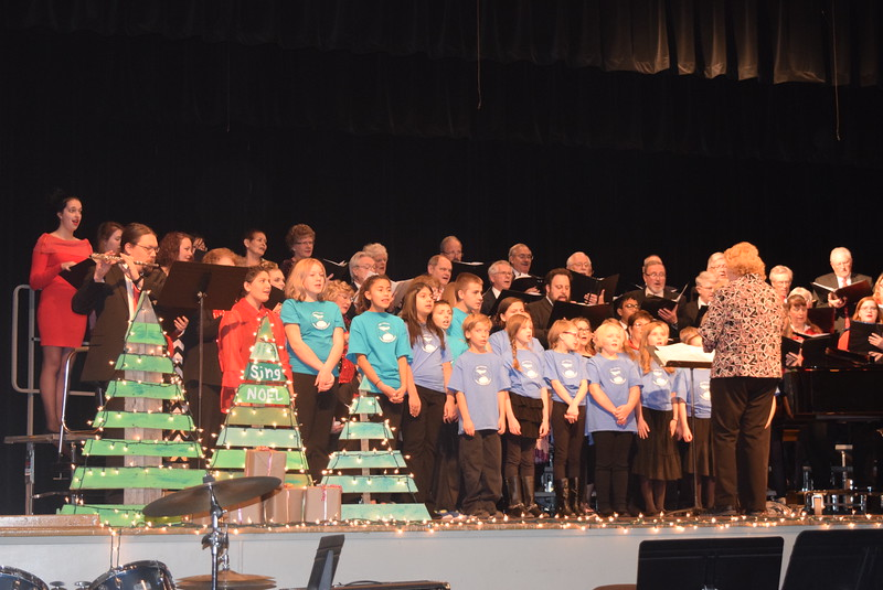 "Windsong Chorus, Centennial State Chorus and the RE-1 Valley Children's Chorale perform ""Sing Noel,"" under the direction of Annette Lambrecht, during the choruses ""Sing Noel at Christmas"" benefit concert Sunday, Dec. 4, 2016."