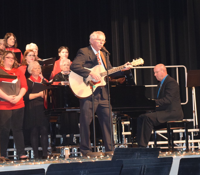 "Ed Lininger performs ""The Christmas Song,"" accompanied by Darren Luft, during Windsong Chorus and Centennial State Chorus' ""Sing Noel at Christmas"" benefit concert Sunday, Dec. 4, 2016."