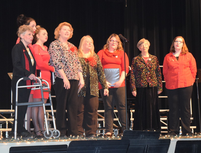 "Windsong Chorus Small Group performs ""Oh Little Town of Bethlehem"" during the chorus' ""Sing Noel at Christmas"" benefit concert Sunday, Dec. 4, 2016. From left; Sheryl Brunner, Shelby Houser, Kori Penfold, Annette Lambrecht, Mary Ann Anderson, Dakota Schneider, Judy Kimball and Darcy Trump"